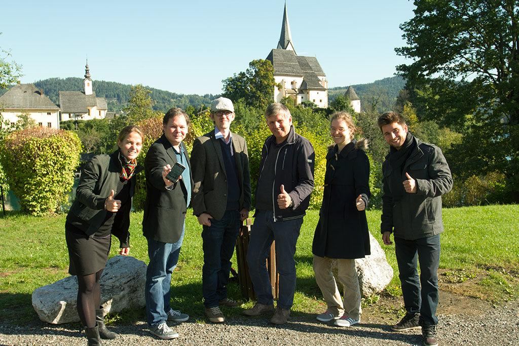 xamoom team with mayor Perdacher of Maria Woerth