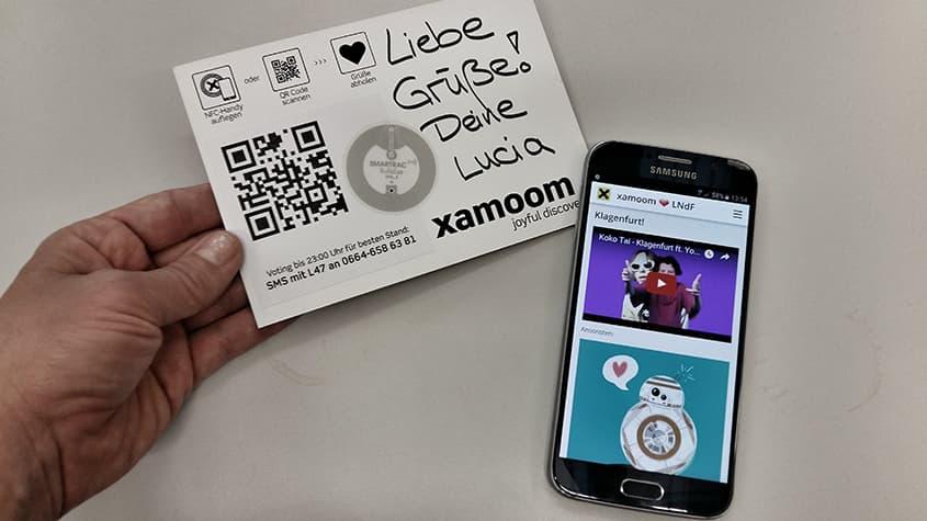 Digitale Grußkarte von xamoom bei der Langen Nacht der Forschung 2016