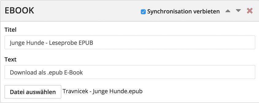 Screenshot von Sync verbieten (später: mobile exclusive)