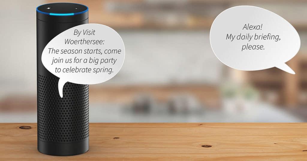 Amazon Echo Alexa with German speech bubbles