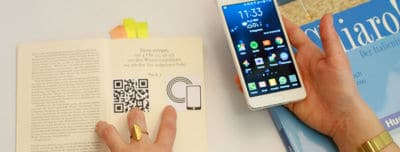 Smarphone and book