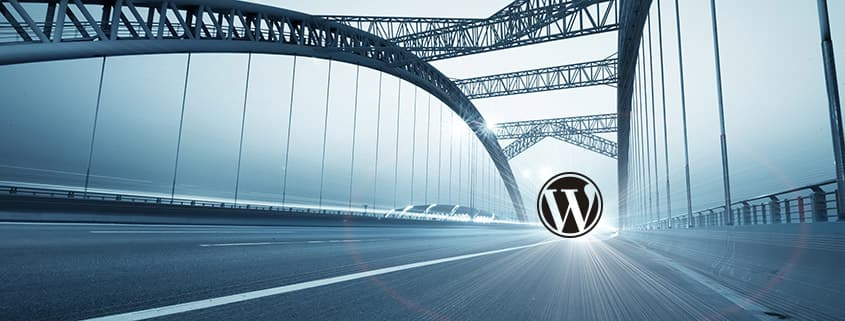 bridge with WordPress logo