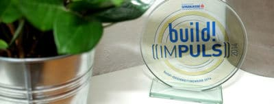 The award trophy for the build Impuls Award 2014