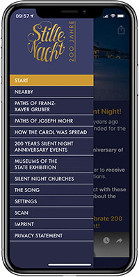 iPhone App 200 years Silent Night aniversary