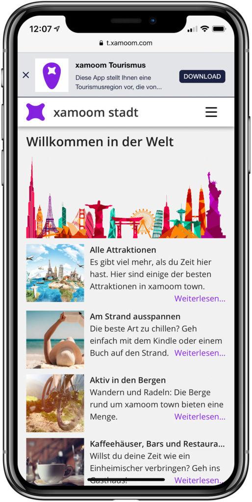 mobile Web Konsumgüter Verpackungen