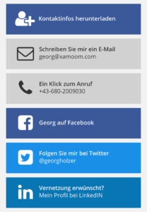 Link Blocks as shown on the mobile web in xamoom