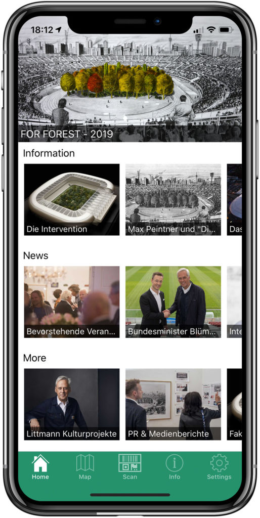 smart app for culture and museums including QR, NFC, iBeacons and calender of events