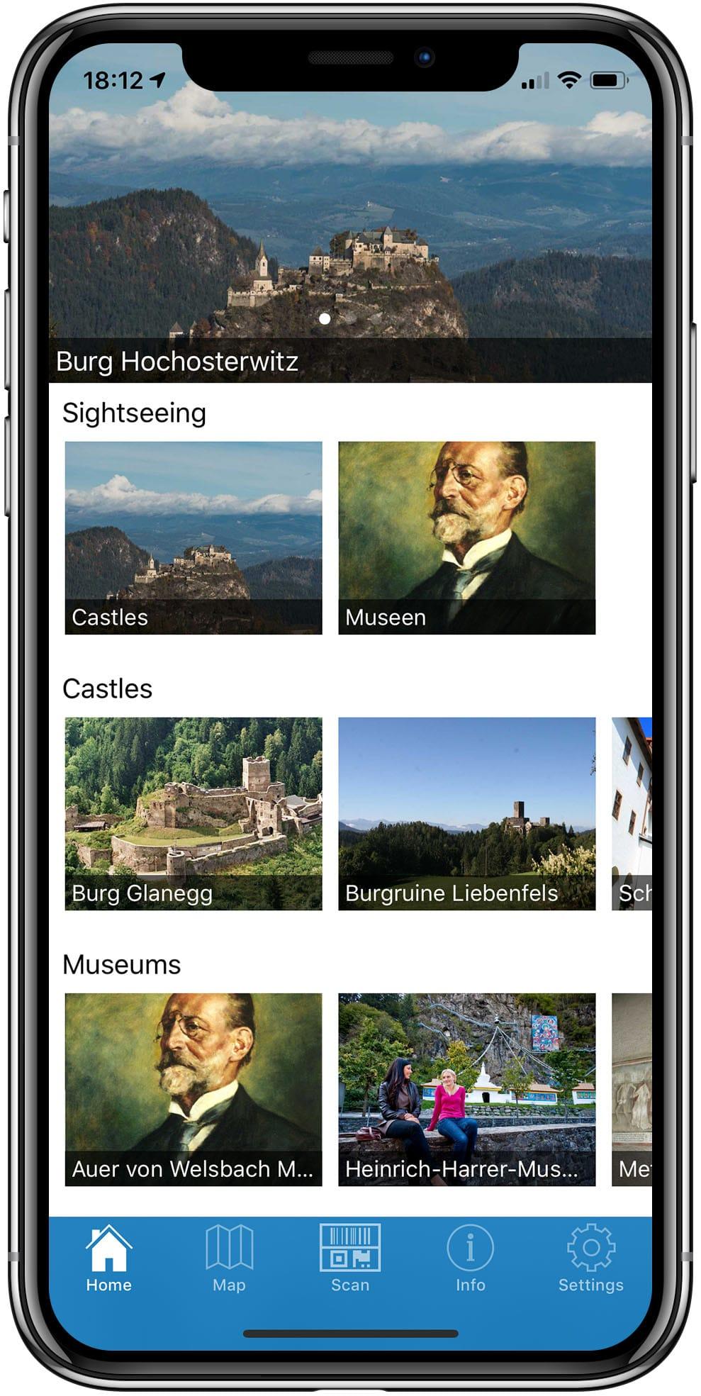 Tourismus APP mit QR, NFC, iBeacons und Veranstaltungskalender