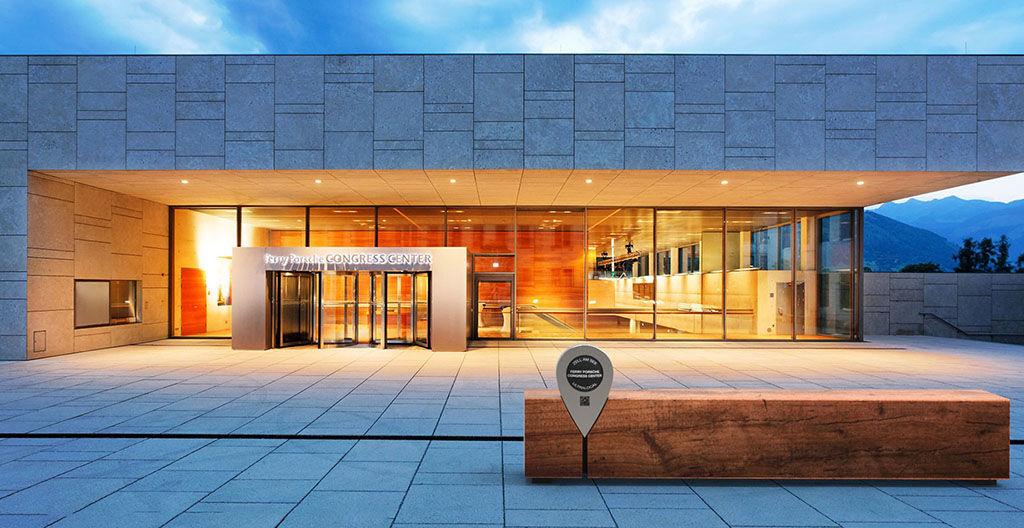 Ferry Porsche Congress Center in Zell am See - visualization of smart marker by Porsche Design
