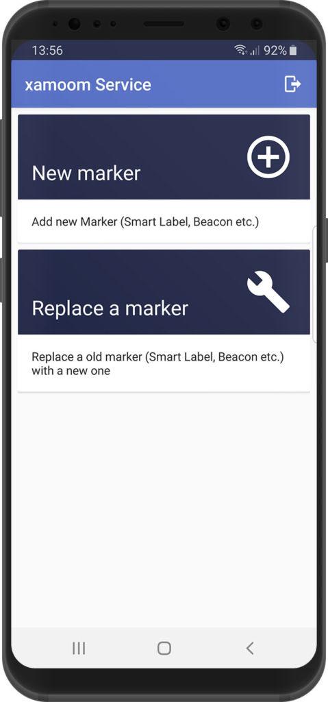 xamoom service app EN - main menu