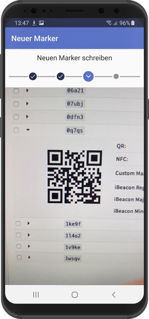 QR Code scannen in der xamoom Service App