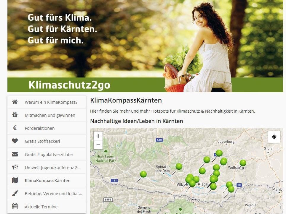 """Kampagne """"Klimaschutz2go"""" des Landes Kärnten"""