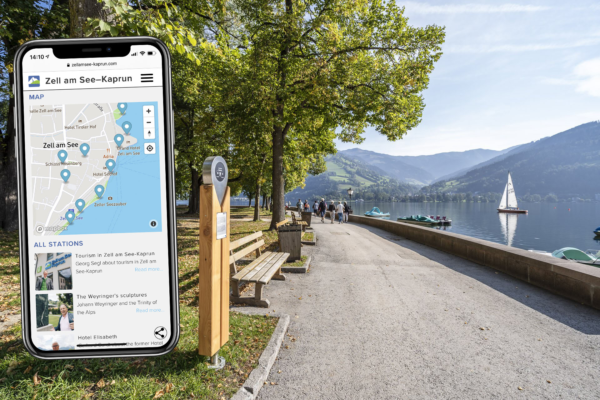 Mobile information system in Zell am See-Kaprun